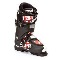 Salomon SPK 100 Boot - Men's Black, 29.0 Salomon. $399.99. Switch cab 5...what? The Salomon SPK 100 Boot has been a staple in freestyle skiing with all kinds of features to make stomping those tricks like it ain't no thang. The Salomon SPK 100 Boot makes this happen by giving you a Heel shock absorber, soft toe insert on the shell and an oversized liner cushion around your toes. The Salomon SPK 100 also features an oversized power strap and two oversized magnesium ...