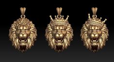 print model lion pendants pack corona crown, available formats STL, ready for animation and other projects Pearl Necklace Designs, Bracelet Designs, Norse Runes, Mens Gold Jewelry, Lord Shiva Painting, Jewelry Model, Animal Jewelry, Luxury Jewelry, 3d Printing