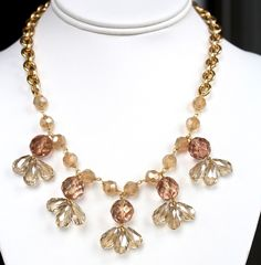 Crystal Floral Statement Necklace by DesignsbyStacyLee on Etsy