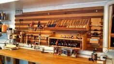 Image result for woodshop wall in garage