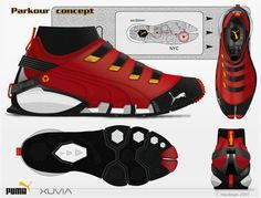 Puma Parkour in red