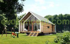 maison préfabriquée contemporaine écologique en bois EK 024 by ekokoncept eko koncept, wooden prefabricated buildings, d.o.o