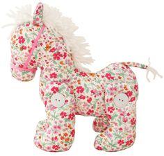Petit cheval en tissu fleuri. Plus