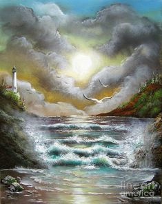 Seascape Painting - Follow The Wind by Patrice Torrillo