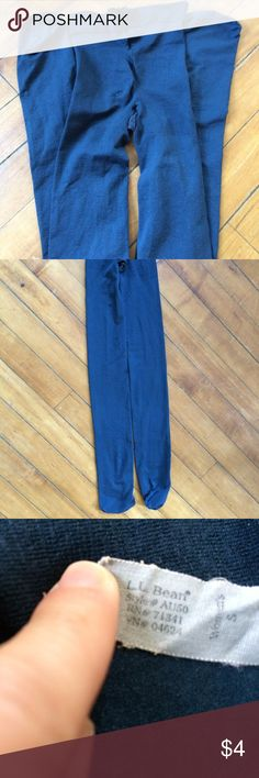L.L. Bean Women's S Green Blue Tights Footed LL Bean women's tights, size small. 89% nylon, 11% lycra. Blueish, greenish color. Footed. Older, but no known big flaws.  **price is firm on anything listed at $5 or below unless you bundle.** L.L. Bean Other