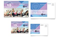 Aerobics Center - Postcard Template