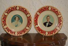 Lot Of 2 Vintage 1953 Portland Ware Tin Plates by WisdomLane