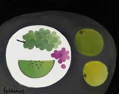 Melon and Grapes - Mary Fedden