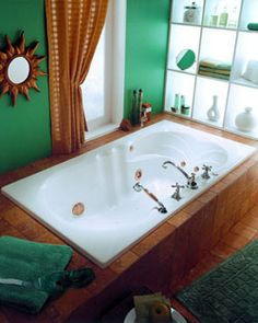 "Neptune Helena Activ-Air Tub -65-3/4"" x 34"" x 19-1/2""- HE66A #BathroomRemodel #BathtubIdeas #DropInBathtub"