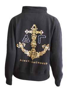 Delta Gamma Always Anchored Pullover by Adam Block Design | Custom Greek Apparel & Sorority Clothes | www.adamblockdesign.com
