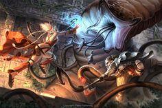 From Pathfinder.    Blood Queen Battle by ~AlexAlexandrov on deviantART