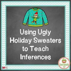 Blog post on fun ideas to use ugly holiday sweaters in speech therapy.