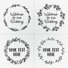 Grinaldas de casamento simples Vetor grátis