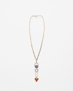 Image 1 of COLOURFUL GEOMETRICAL NECKLACE from Zara