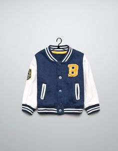 A letterman jacket for brayden and blayton! Boys Fall Fashion, Little Kid Fashion, Little Boy Outfits, Baby Boy Fashion, Kids Outfits, Zara Official Website, Kid Swag, School Fashion, My Guy