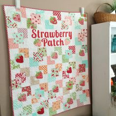 strawberry patch quilt hello darling moda 8