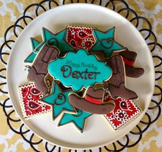 It's a Western Cowboy Rodeo Sugar Cookie Collection Cowboy Birthday Party Ideas Rodeo Birthday Parties, Rodeo Party, Cowgirl Party, Birthday Ideas, Cowboy Theme, Western Theme, Cowgirl Cakes, Cupcake Cookies, Iced Cookies