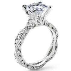 Crescent by Tacori- Diamond engagement ring