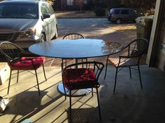 GLASS TABLE WITH 5 CHAIRS - $50 (CORDOVA)