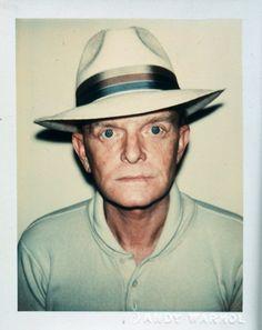 "Andy Warhol, ""Truman Capote"" 1979, Polaroid. 10.8x8.6cm"