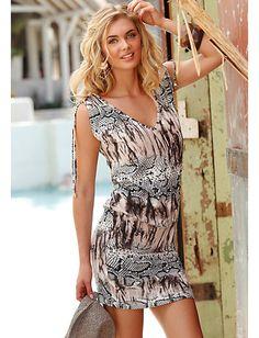 41257119013f2a Lascana - LASCANA Longshirt mit Animalprint Animaldruck im heine Online-Shop  kaufen