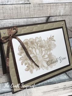 """I have to say that I loooove this stamp set. Heartfelt Blooms is """"a beautiful, photographic bouquet in a gorgeous vintage look. It is a one-step stunner for all your projects!-Stampin' …"""