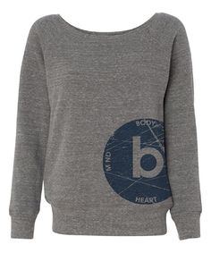 Look at this Gray Wide-Neck Sweatshirt - Women on #zulily today!