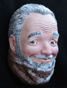 Figurative sculptures with a humorous twist First Snow, Caricature, Sculptures, Humor, Figurative, Gallery, People, Clay, Ceramics
