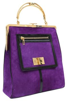 Clutch Purses are the Answer Purple Love, Purple Bags, Christophe Decarnin, Purple Fashion, Beautiful Bags, Fashion Bags, Tokyo Fashion, Fall Fashion, My Bags