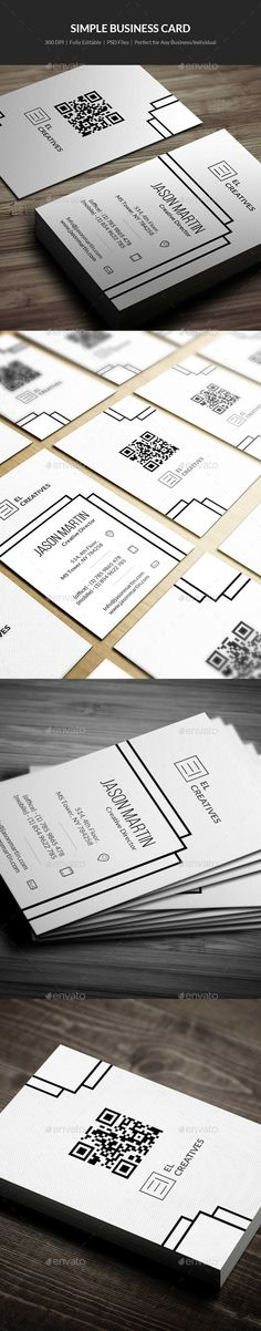 Simple #Business #Card - 06 - Creative Business Cards