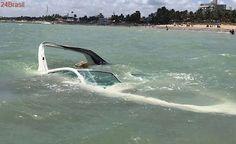 VEJA VÍDEO: lancha afunda na praia de Camboinha na madrugada deste sábado