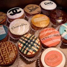 Designer cupcakes.