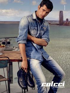 Sean O'Pry Does Double Denim Style for Colcci Spring/Summer 2016 Campaign