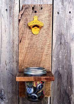 Mason Jar Decor Wall Mount Bottle Opener by ShineBoxPrimitives