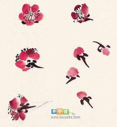 中国画梅花的画法详细教程