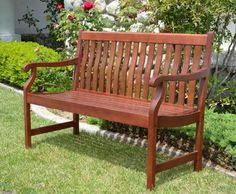 Patio Benches  - Pin it :-) Follow us, CLICK IMAGE TWICE for Pricing and Info . SEE A LARGER SELECTION of patio benches at http://zpatiofurniture.com/category/patio-furniture-categories/patio-bench/ -  home, patio, furniture, outdoor furniture, gift ideas , housewarming gift ideas - Duramen – 4ft Outdoor Patio Wood Bench Teak Finished « zPatioFurniture.com