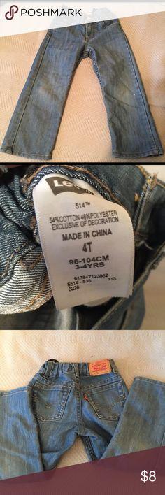 Levi's' Size 4T 514 straight Denim jeans Levi's Size 4T 514 straight Denim jeans Levi's Bottoms Jeans