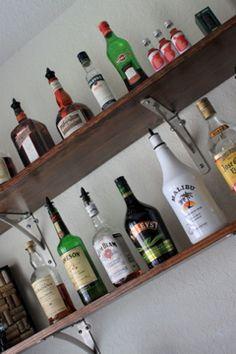 Style on the Cheap: DIY Bar Shelving