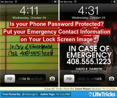 Smart Phones - Put your Emergency Contact info on your Lock Screen Image