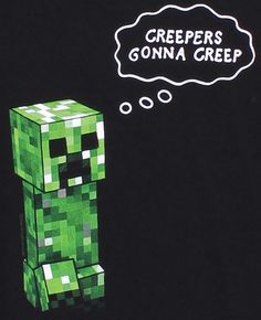 J!NX : Minecraft Creepers Gonna Creep Premium Tee - Clothing Inspired by Video Games & Geek Culture