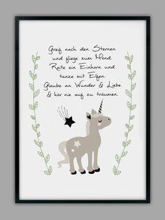 """""""EINHORN"""" Kunstdruck, Geschenk von Smart-Art Kunstdrucke auf DaWanda.com"""