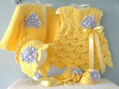 Baby Girl Dresses Crochet Baby Cardigan Knit Baby Dress Baby Girl Sweaters Knitted Baby Clothes Crochet Girls Crochet Hats Crochet For Kids Baby Girl Patterns Knit Baby Dress, Crochet Baby Cardigan, Crochet Baby Clothes, Baby Blanket Crochet, Knitted Baby, Knit Crochet, Baby Girl Patterns, Baby Knitting Patterns, Crochet Patterns