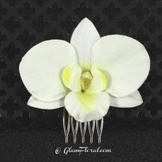 Dendrobium Orchid Hair Clip in Cream White with by GlamFloral, $16.50