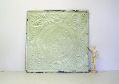 vintage tin tile 20x20 antique tin ceiling by elementsbytimbers