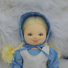 Old Fashioned Rag Doll in Pioneer Dress, One of a kind Doll, Soft Sculpture Jointed Cloth Doll, Easter Gift for Doll Lover, Blonde Rag Doll Pioneer Dress, Rag Dolls, Easter Gift, Soft Sculpture, Doll Clothes, Gifts, Handmade, Fashion, Fabric Dolls
