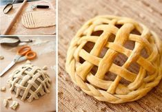 How fun to make and enjoy this braided bread basket ! Fill some salads, snacks , treats in it , then eat all including the basket :) I would like to Bread Shaping, Bread Art, Fingerfood Party, Braided Bread, Bread Bowls, Artisan Bread, How To Make Bread, Dessert Recipes, Desserts