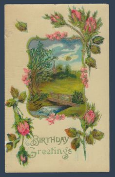Postcards - Greetings & Congrads #  791 - Birthday Wishes