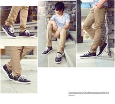 2013 mens fashion plaid casual shoes genuine leather lacing Sneakers discount sale