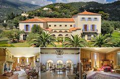 COCO CHANEL ~ Former home at  Roquebrune-Cap-Martin, French Riviera.  Villa La Pausa.