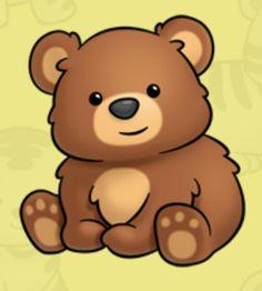 Ou Des Flash Cards More Baby Bear Drawing Cute Bears Bear Clipart Cute Animal Drawings, Kawaii Drawings, Easy Drawings, Cute Cartoon Animals, Baby Animals, Cute Animals, Bear Clipart, Cute Clipart, Cute Images